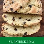 Irish soda bread on a board
