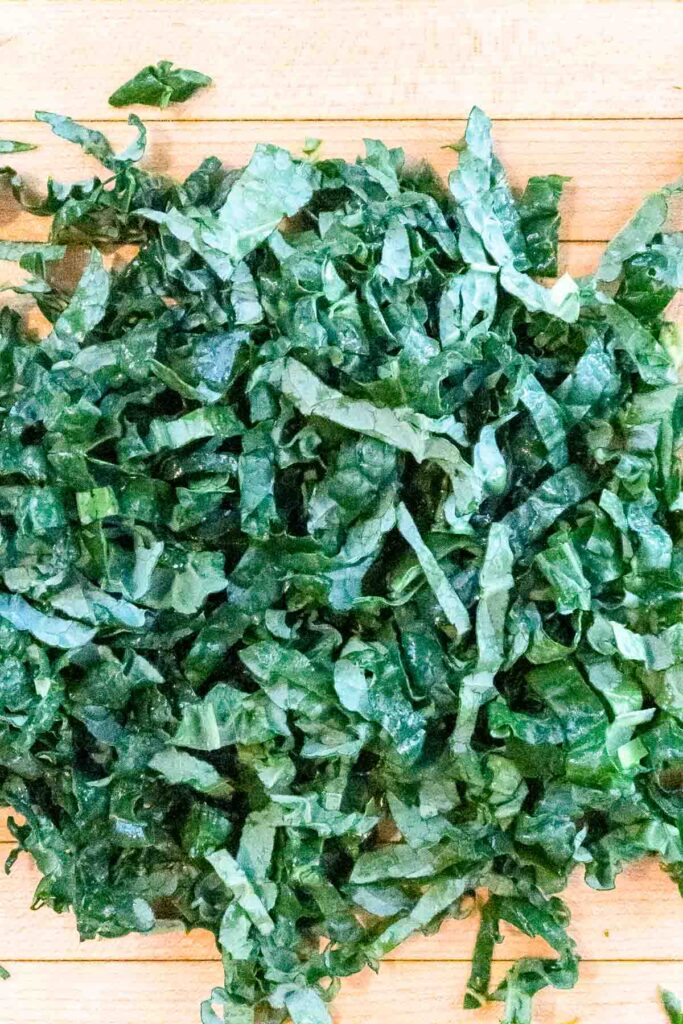 Thinly sliced kale